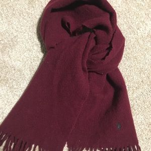 Ralph Lauren polo red wool scarf